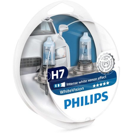 Philips White Vision H7 12V 55W + W5W duobox